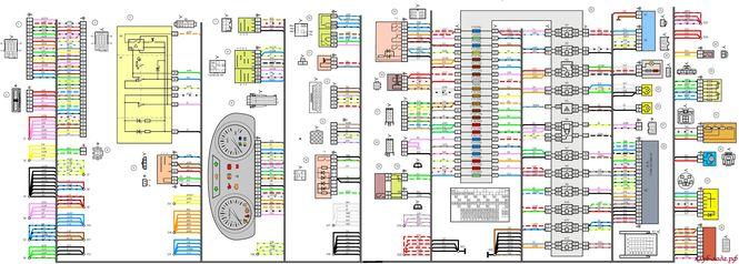 Схема панели приборов Лада