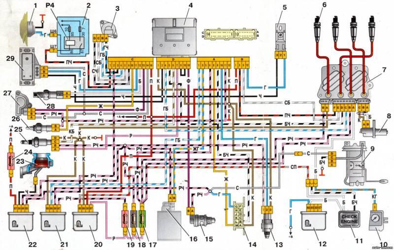 1 - электровентилятор системы
