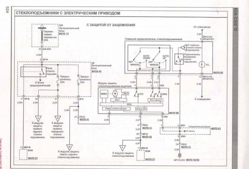 Электросхема kia ceed - схема