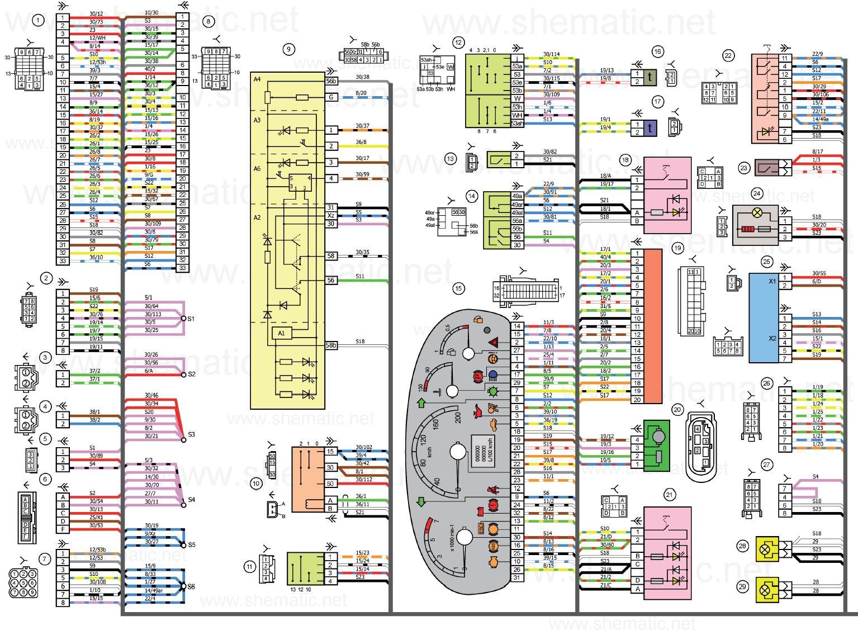 Электросхемы Калины Электрическая схема зажигания лада калина
