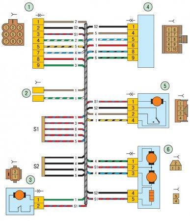 4 - модуль двери водителя