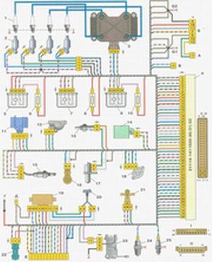 схема электронного блока питания