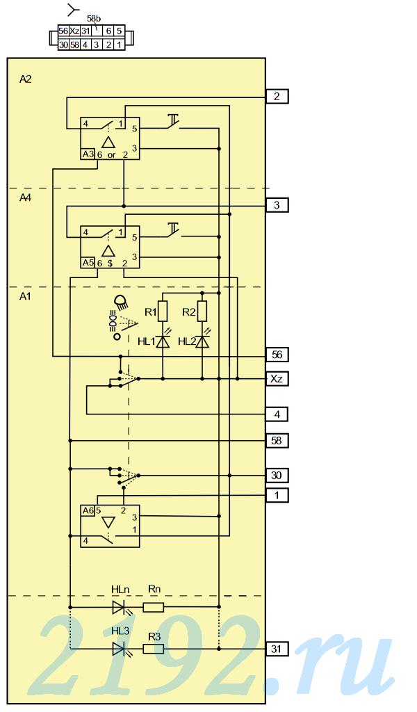Схема модуля управления