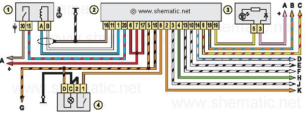 Ваз 2123 схема электрическая