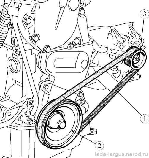 Замена приводного ремня Lada