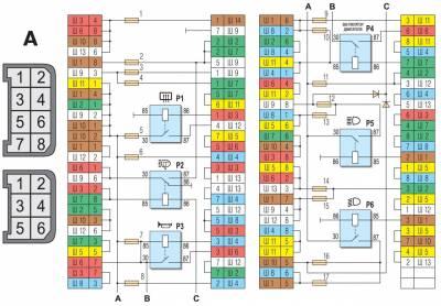 электросхема ваз 21214 инжектор предохранители