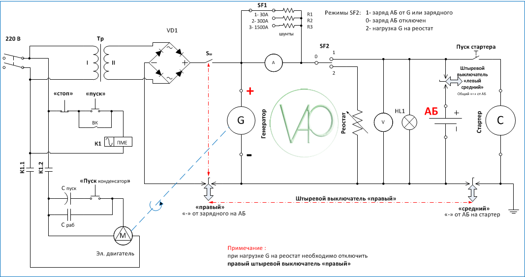 Стенды для проверки генератора своими руками схема