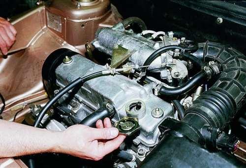 Замена масла в двигателе ваз 2114