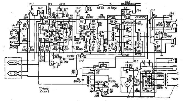 электрическая схема МП RQ