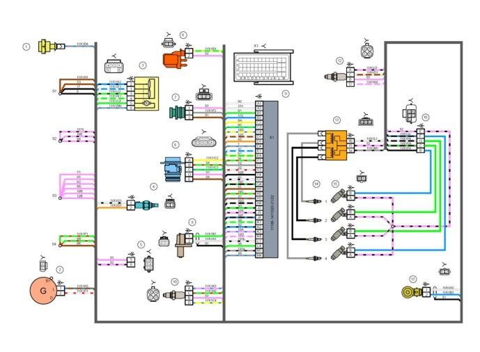 Электрические схемы Лада