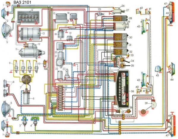 Ваз 2110 схема
