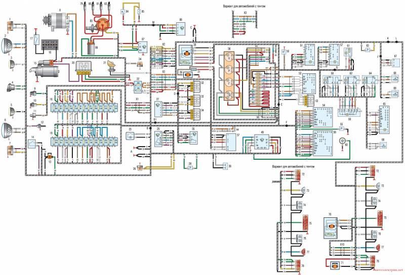 Электросхема уаз - схема