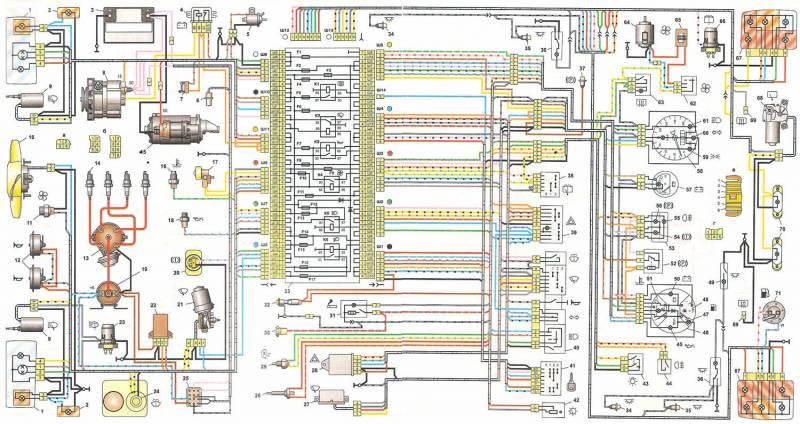 Электрическая схема приборного