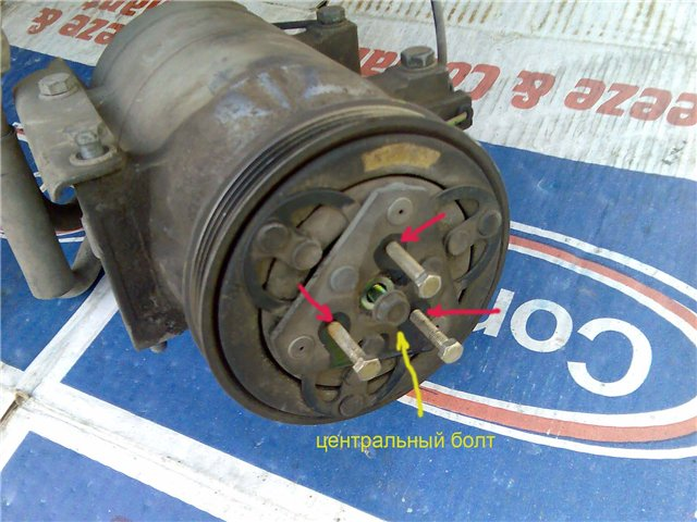 Как снять шкив компрессора кондиционера ниссан