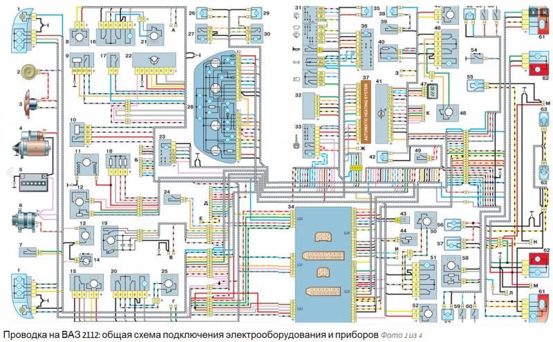 Схема проводки ваз - Схема