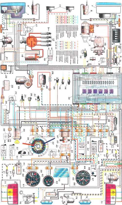 Электрическая схема на ВАЗ