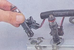 Как снять форсунки с ваз 2107 инжектор