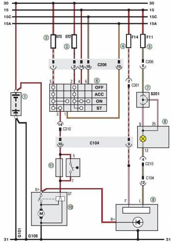 Схема Дэу Ланос