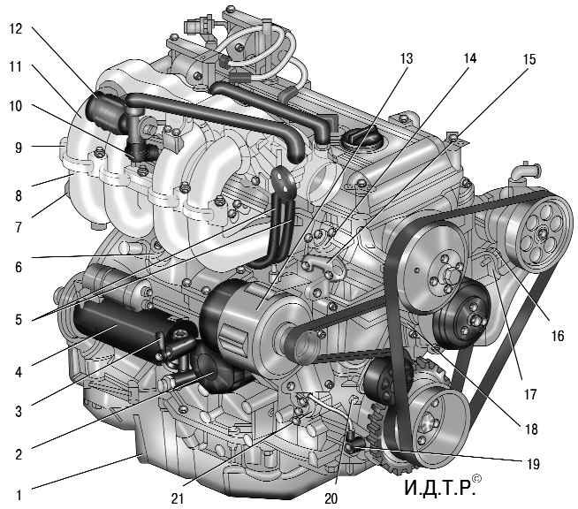 Двигатель ЗМЗ-409 (вид