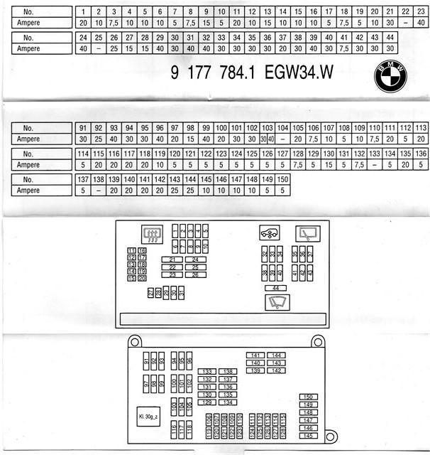 Схема предохранителей BMW X6