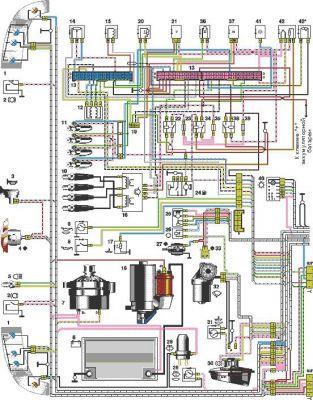 Электрическая схема ВАЗ-21102