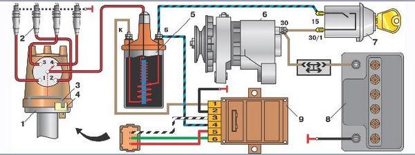 Схема электронного блока ваз