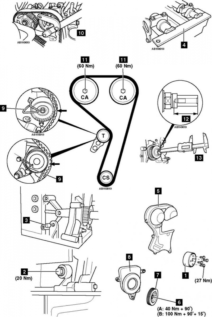 Замена ремня грм на форд фьюжн 1.4