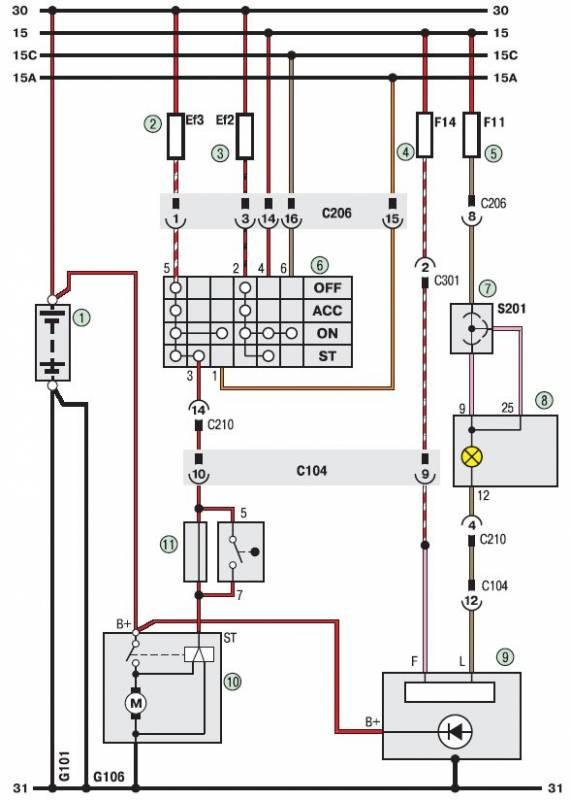 Электросхема дэу ланос - схема