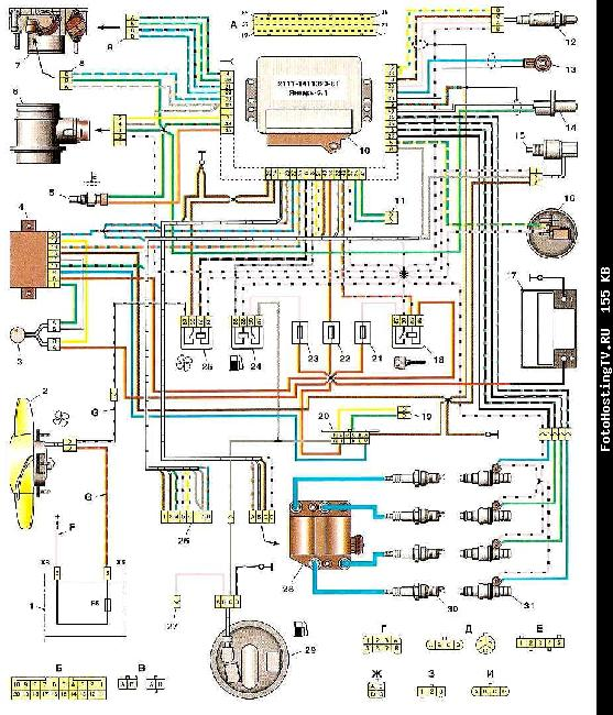Схема управления мотором ваз