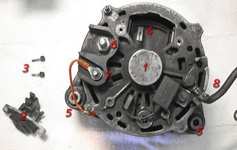 Установка генератора bosch от