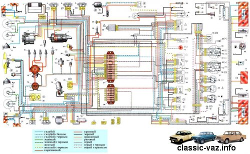 Электросхема ваз 21061 и 21063