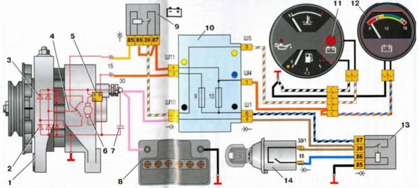 Схема соеденений системы