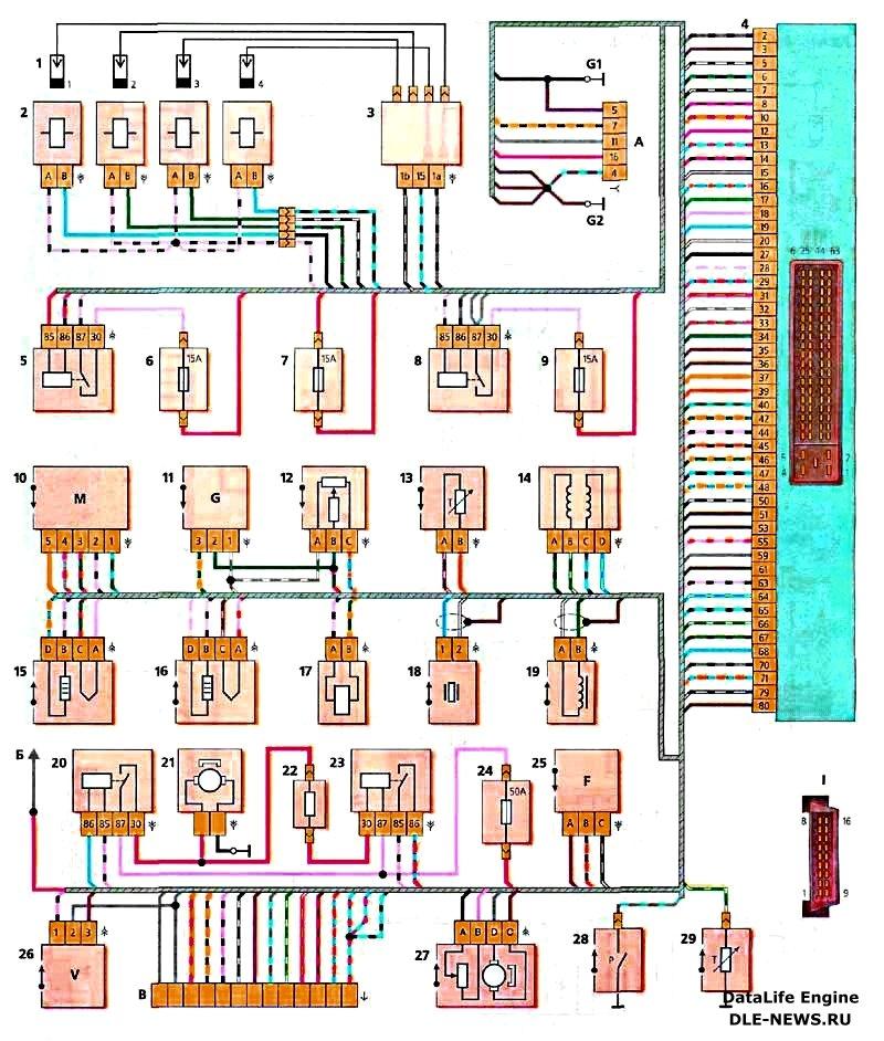 Электрическая схема ваз 2118
