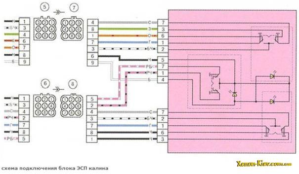 схема подключения модуле ЭСП