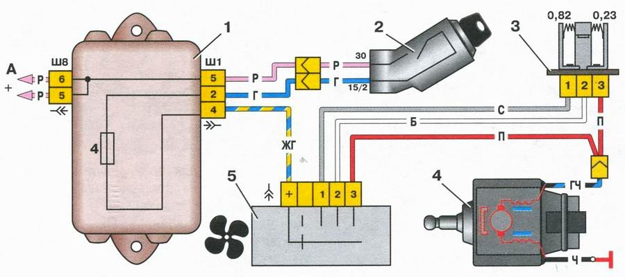 Схема включения электромотора