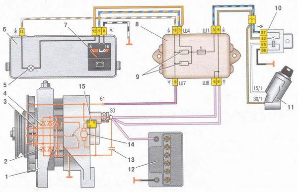 Схема соединений генератора