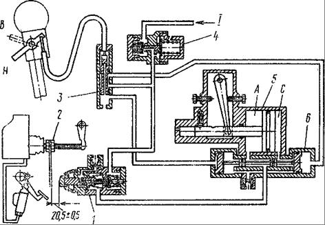 Рис. 33 Пневматическая схема