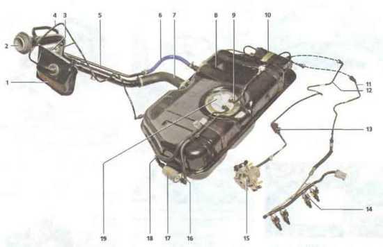 Калина ВАЗ 1118 топливная