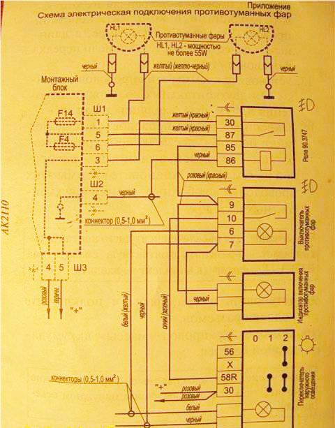 Ваз 2110 установка противотуманных фар своими руками