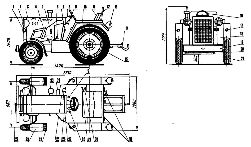 мини-трактора «Муравей».