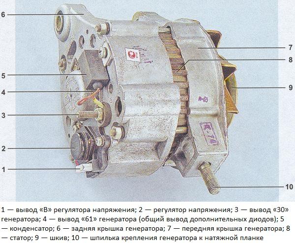 схема генератора ВАЗ 2107