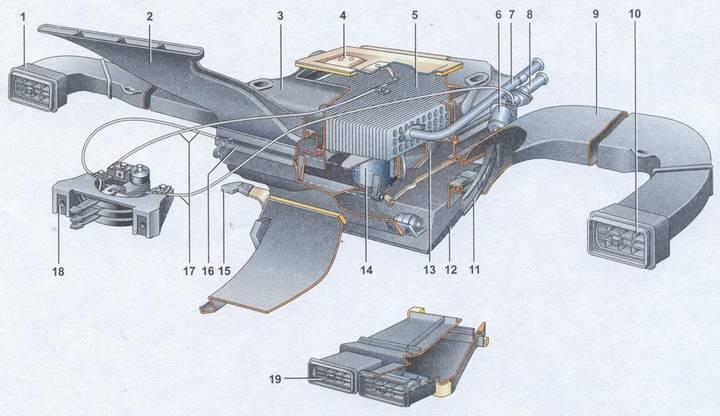 5 — радиатор отопителя; 6