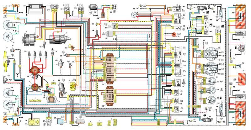 Схема ваз 2106