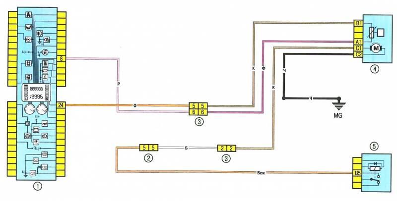2 - разъем электропроводки