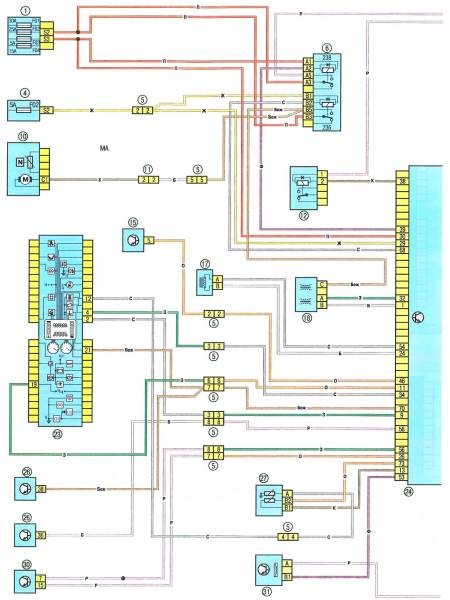 5 - разъем электропроводки