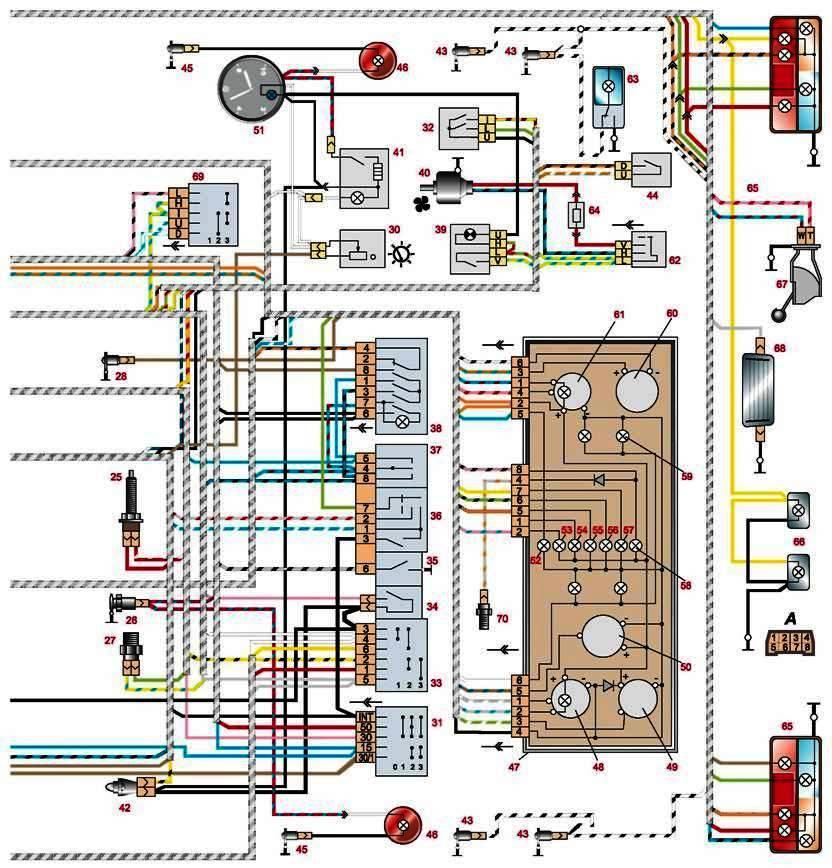 туалетной схема электро проводка 2107 мне