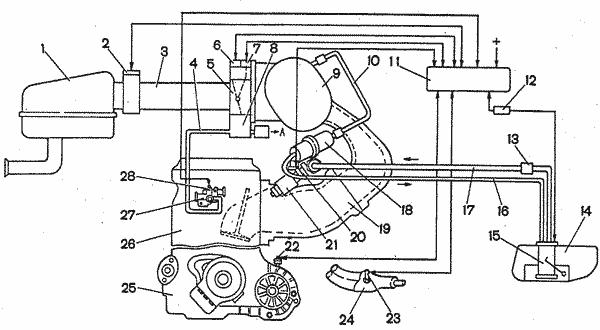 Схема системы впрыска:1