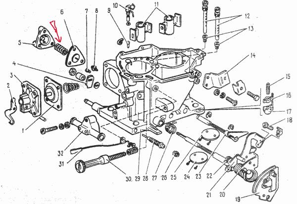 корпуса карбюратора ВАЗ-08