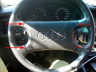 Замена радиатора печки Audi-80