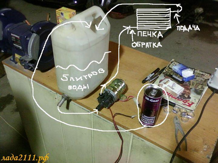 Промывка радиатора печки (со